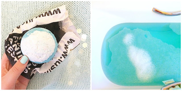 Lush Cosmetics Big Blue Bath Bomb Blog Review