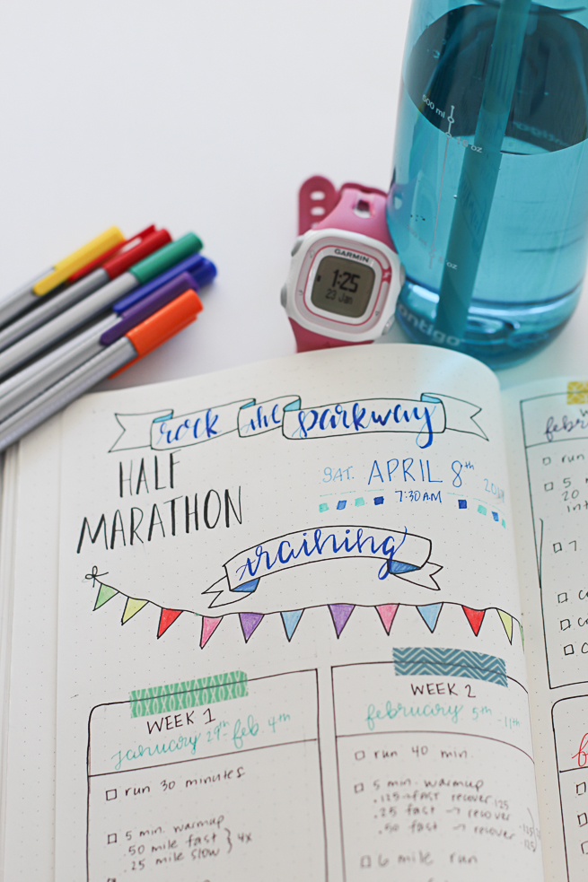 Bullet journal for half marathon