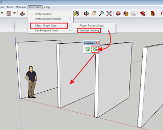 Cara membuat Plugin/Extension SketchUp - Bagian 3: Tool Pointer Mouse