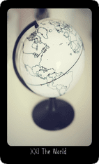 The World tarot card image