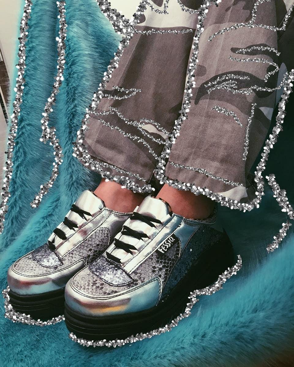 zapatillas Chunky Silver