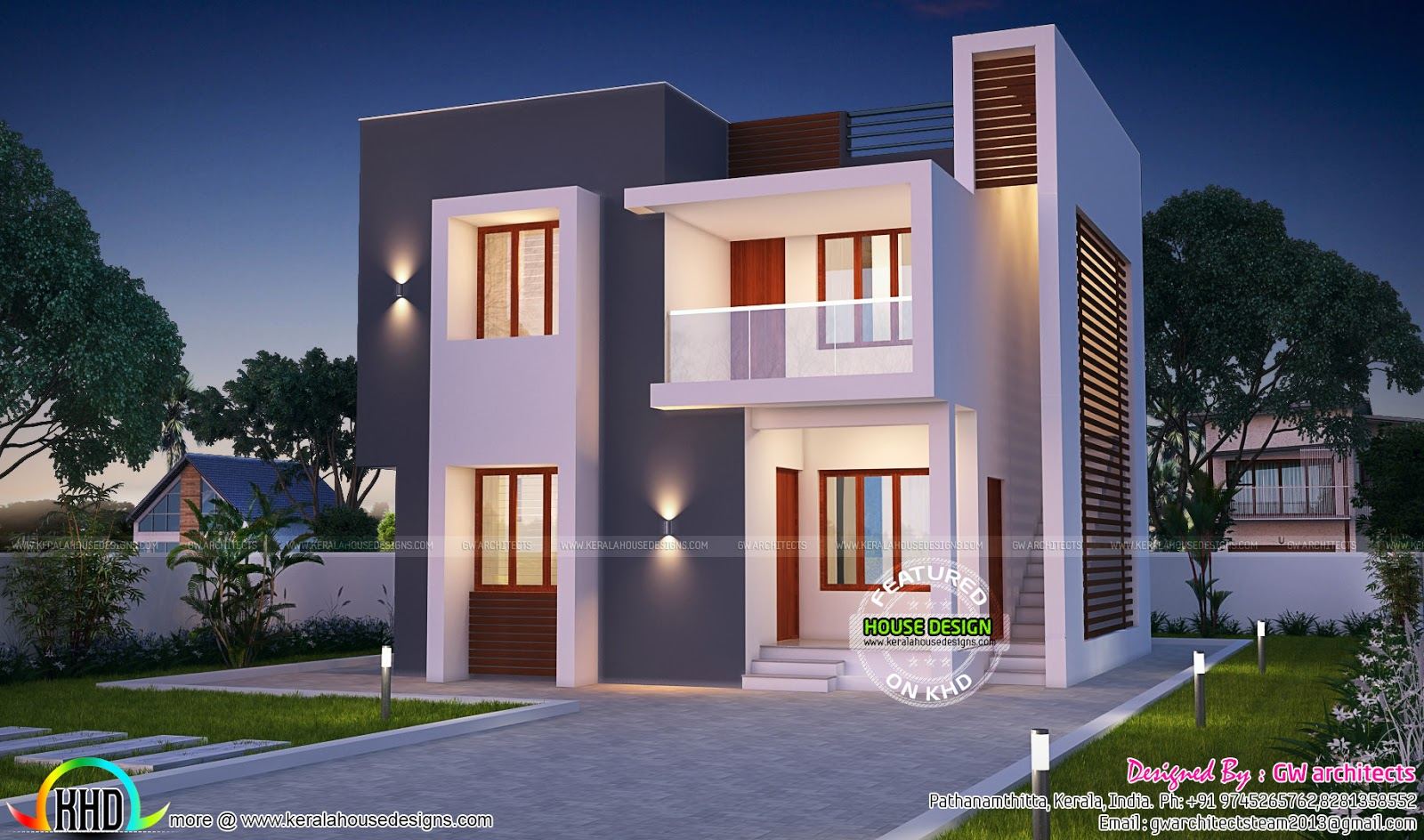 House design khd - Beautiful Modern Home With Floor Plan