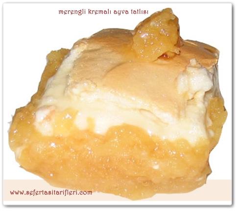 merengli kremalı ayva tatlısı