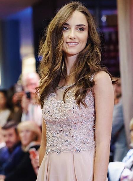 Elegant Beaded A-line Formal Evening Dress