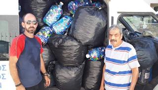 Συγκέντρωσε 600 κιλά πλαστικά καπάκια για τα άτομα με αναπηρία