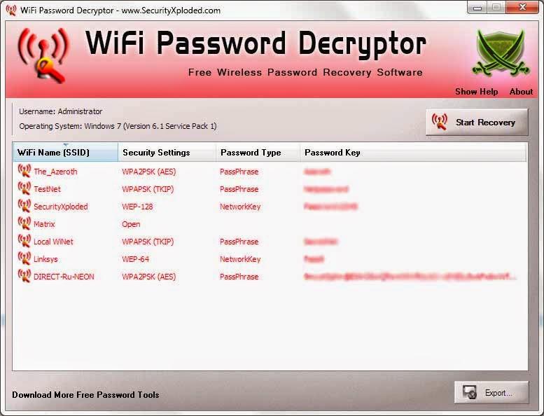 Wifi Password Decryptor 2014 download