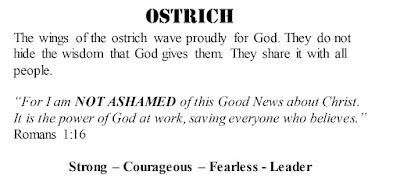 Romans 1:16 ostrich