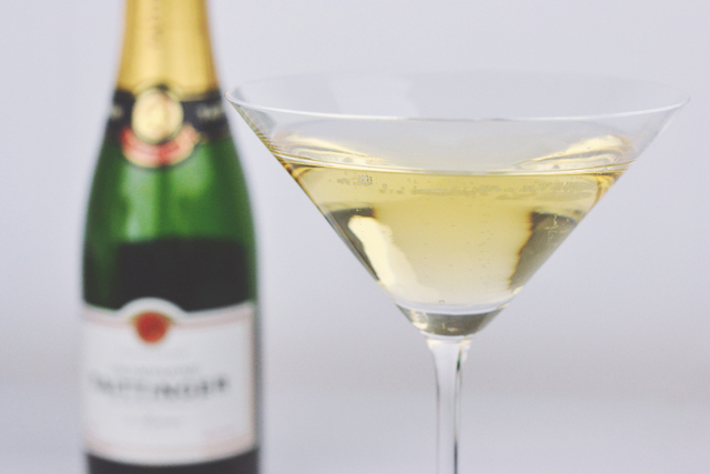 Champagne in Martini glass