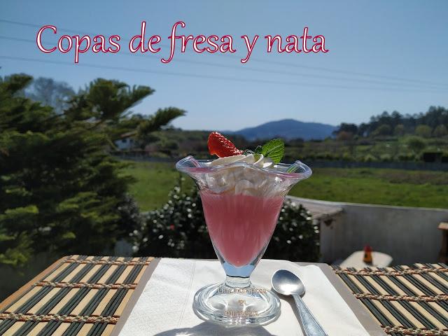 Postre Expres De Fresa Y Nata