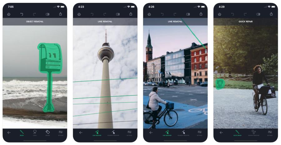 app di fotoritocco: TouchRetouch