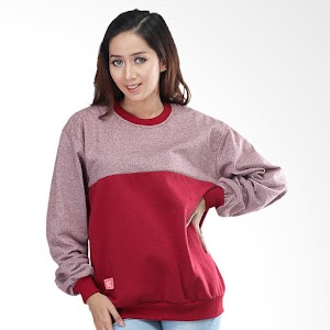 Kuzatura KSD 213 Jacket Hoodies Sweater Kasual Wanita - Red