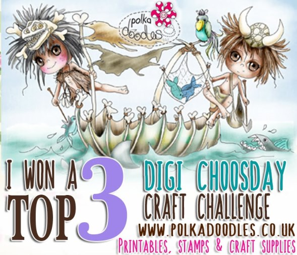 Top 3 Winner at Digi Choosday Challenge Blog