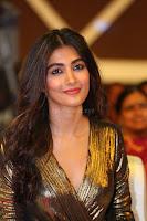 Pooja Hegde looks glamarous in deep neck sleevless short tight golden gown at Duvvada Jagannadham thank you meet function 128.JPG