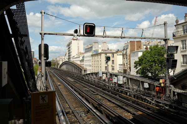 View of the elevated metro line at Bir-Hakeim. Paris photos by Kent Johnson for Street Fashion Sydney.