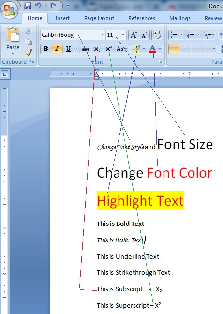 Simple Easy Procedures to Perform Basic Text Formatting in MS Word