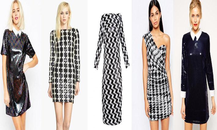 abaf021db6 Monochromatyczne sukienki cekinowe zadowolą zwolenniczki klasyki.  Ponadczasowa biel i czerń