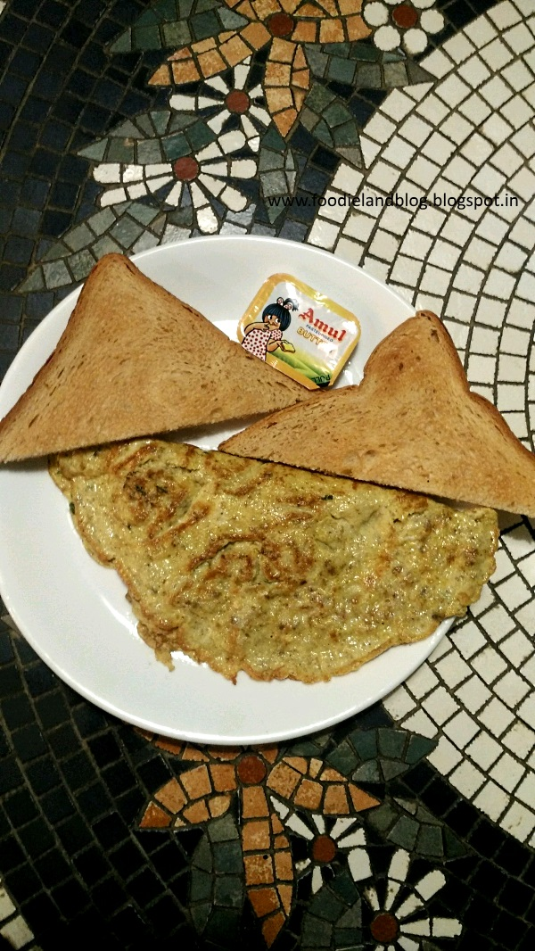 Keema Omlette @ The Cafe Full of Life | Zoey's | Bangalore