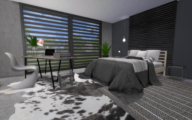 modern bedroom Sims 4