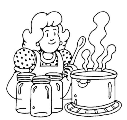 Gambar Mewarnai Ibu Memasak Sayur Di Dapur