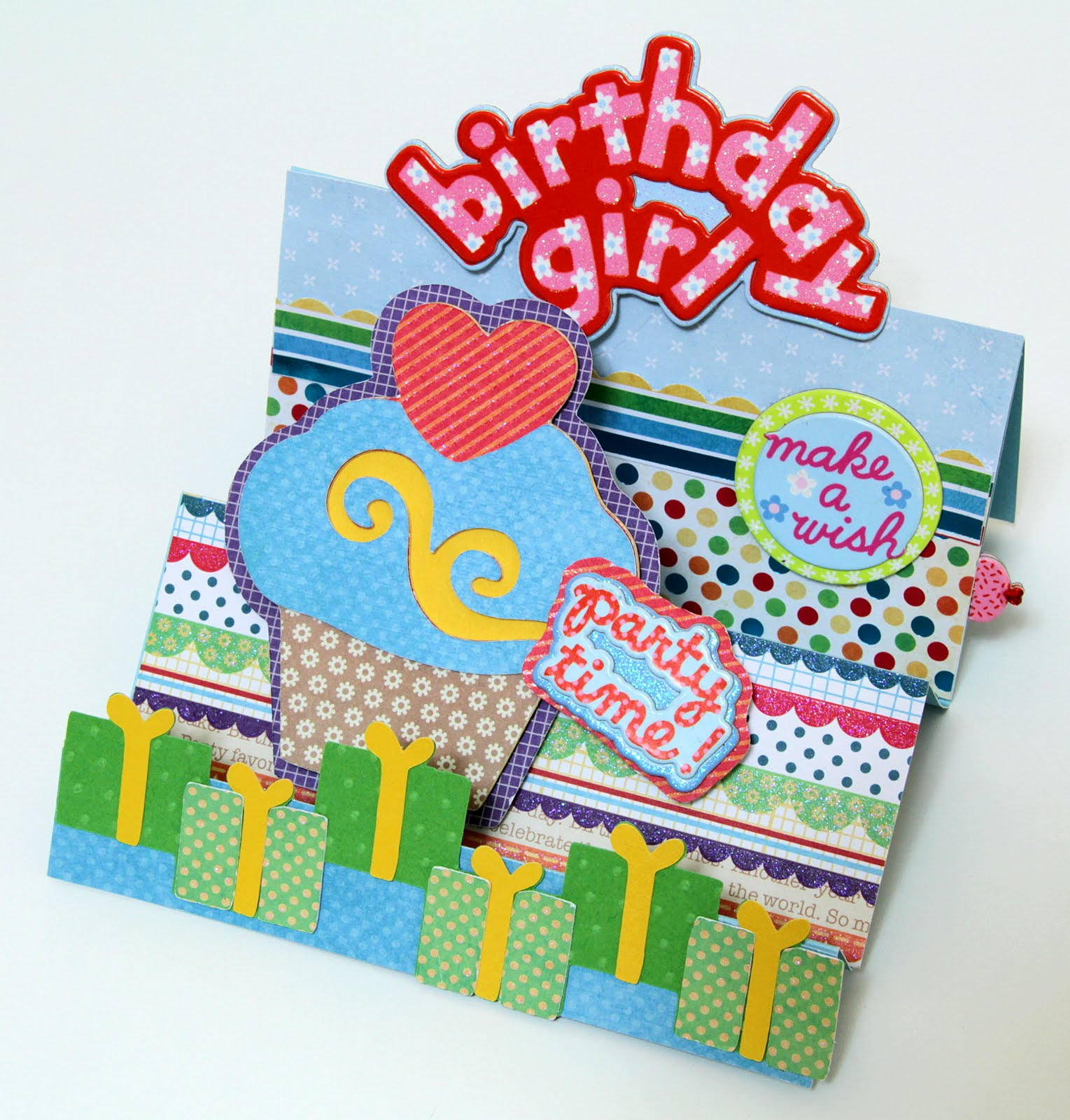 The Paper Boutique: Happy Birthday Accordion And Pull-tab Card