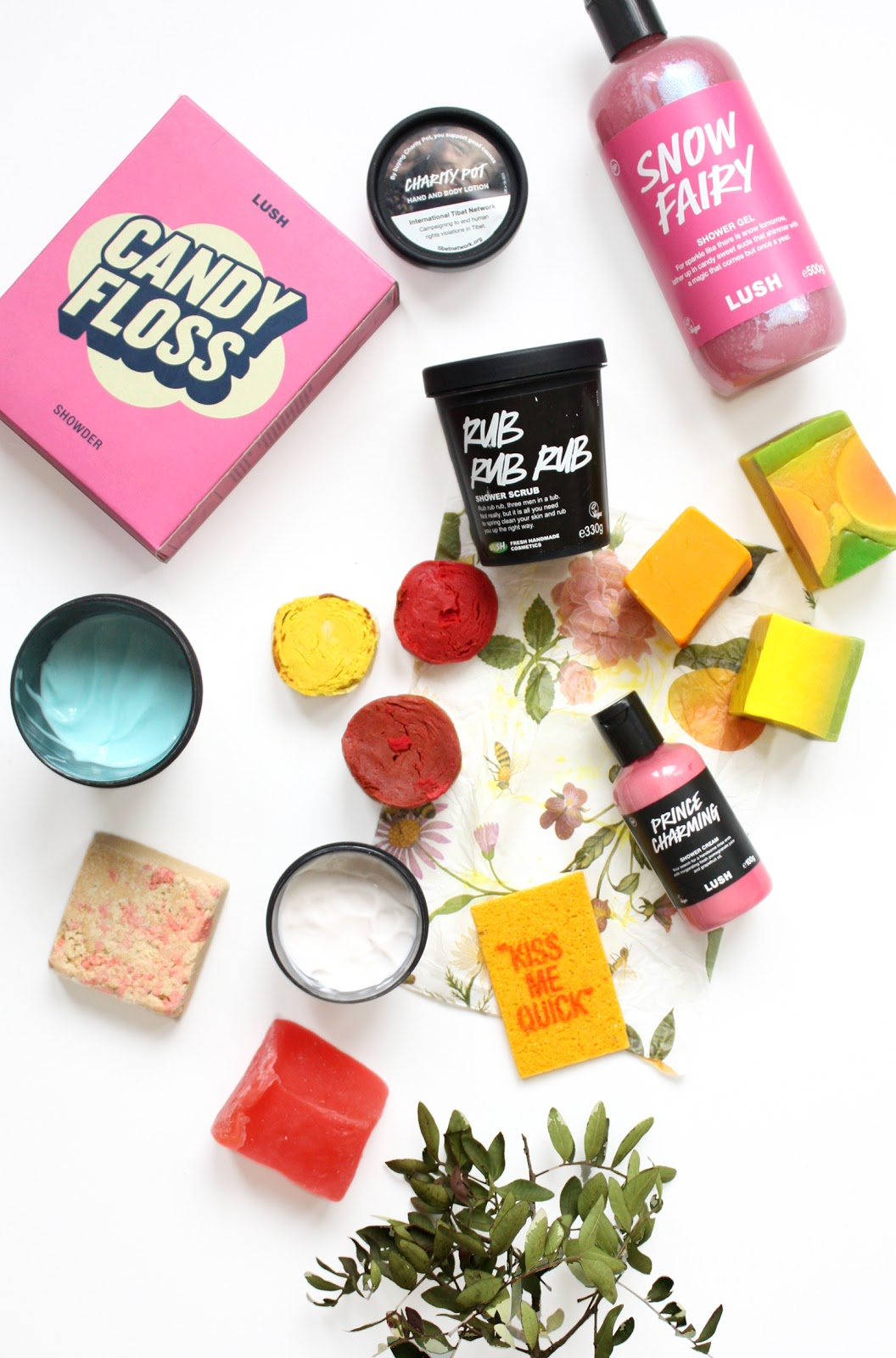 lush shower body products exclusives