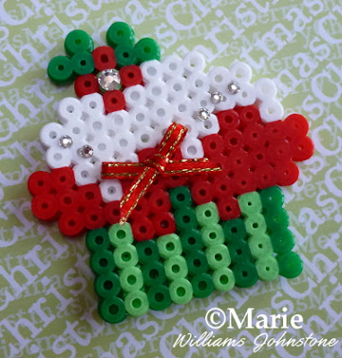Festive Holiday pattern beads