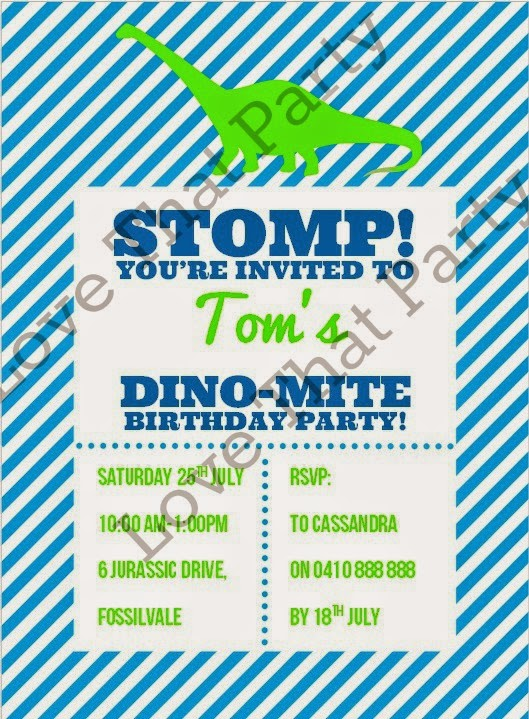 http://lovethatparty.bigcartel.com/product/dinosaur-stomp-party-printable-birthday-invitation-digital-file