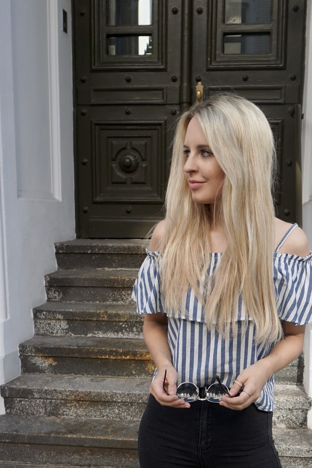 Off Shoulder Bluse Sommer Modeblog Influencer