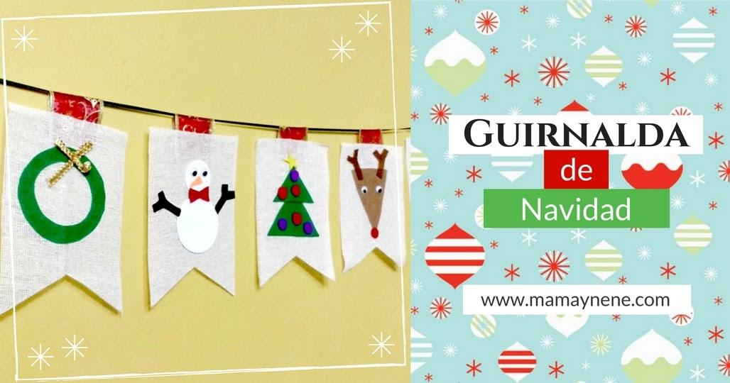 Guirnalda de navidad en yute mam nen maternidad y recursos educativos - Guirnaldas navidad manualidades ...