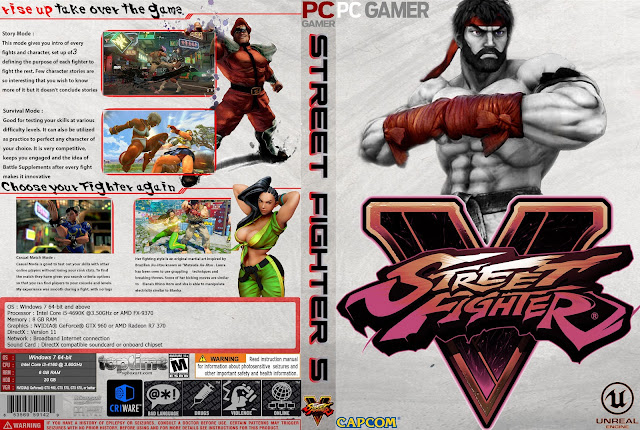 Capa Street Fighter V PC