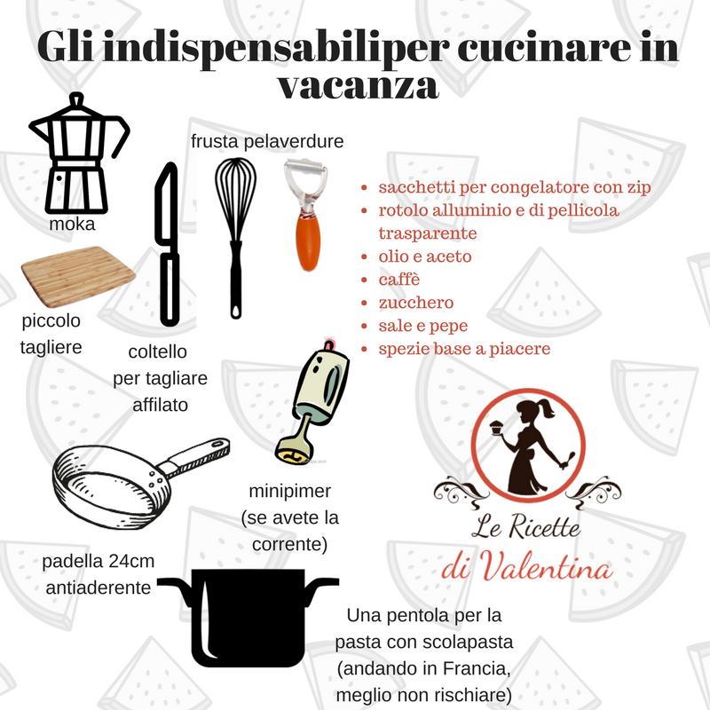 Le ricette di valentina scheda gli indispensabili per cucinare in vacanza - Cucinare con le spezie ...