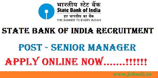 SBI Senior Manager Recruitment, Jobs in SBI, SBI Vacancy