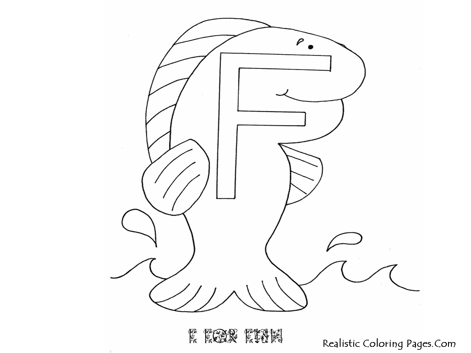 F Letters Alphabet Coloring Pages