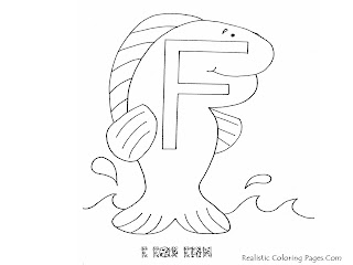 Alphabet Coloring Pages F For FISH