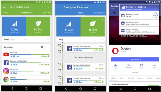تطبيق Opera Max يحصل على تحديث جديد يوفر من استهلاك البيانات لتطبيق فيس بوك Facebook