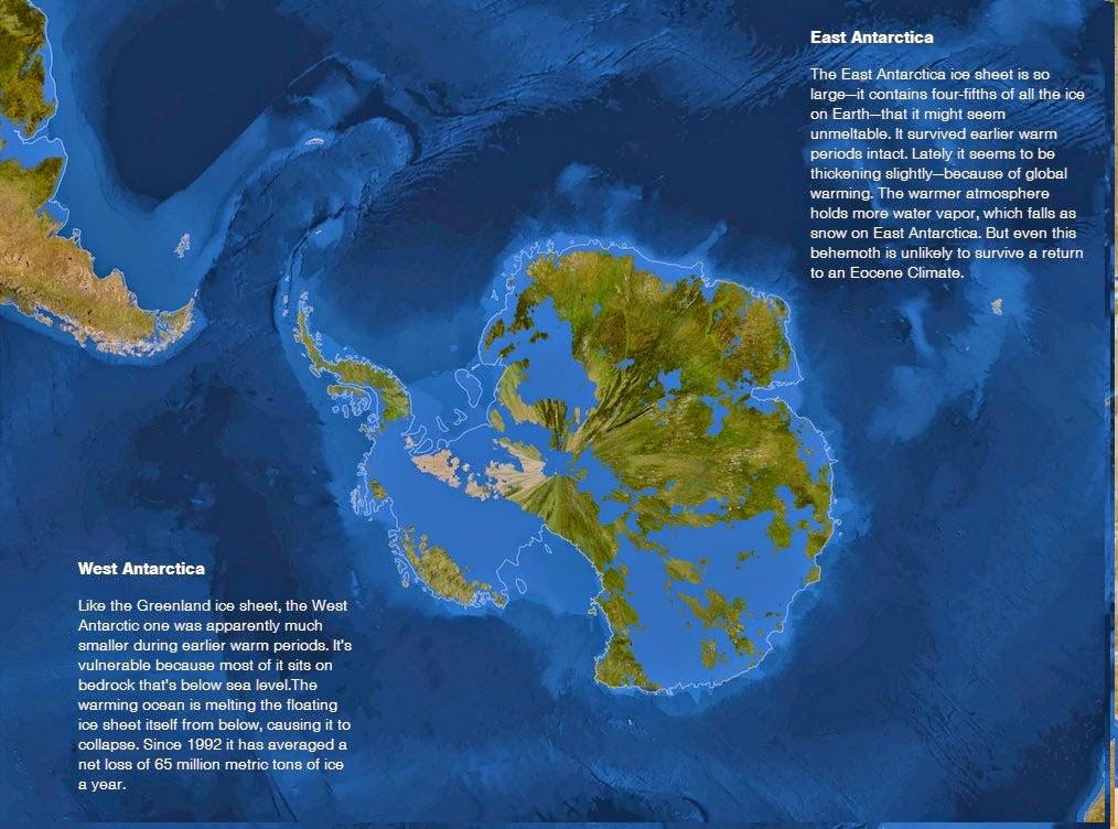 Se o gelo do mundo derreter - Antártica