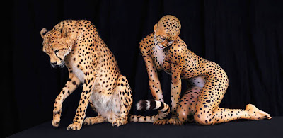Body paint Guepardo Cheetah pintar cuerpo