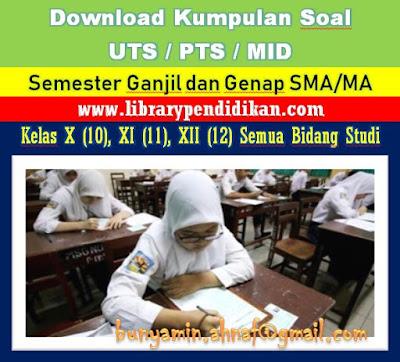 Gambar anak SMA sedang melaksanakan UTS/PTS/MID Semester, http://www.librarypendidikan.com/