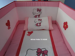Protector cuna hello kitty