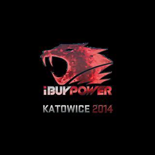Sticker (naklejka) iBUYPOWER | Katowice 2014 (Holo)