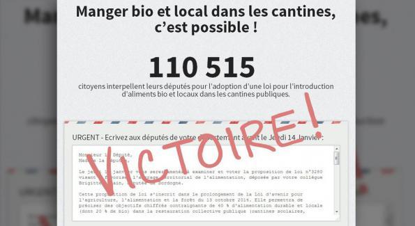 VICTOIRE !!! : Bio et local dans les cantines, la loi votée à l'unanimité – Michel Mougenot
