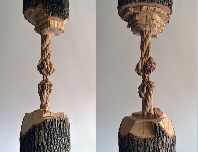 tronco-tallado-a-mano-suspendido-por-una-cuerda