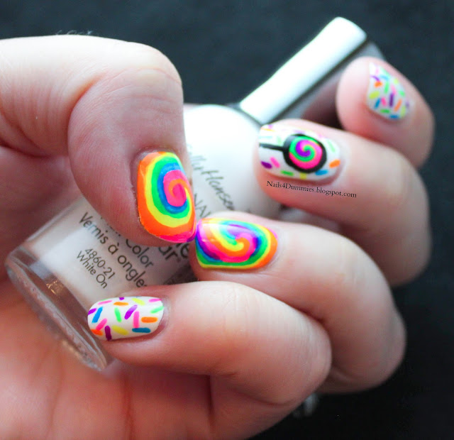 Nails4Dummies - Candy Swirls Mani