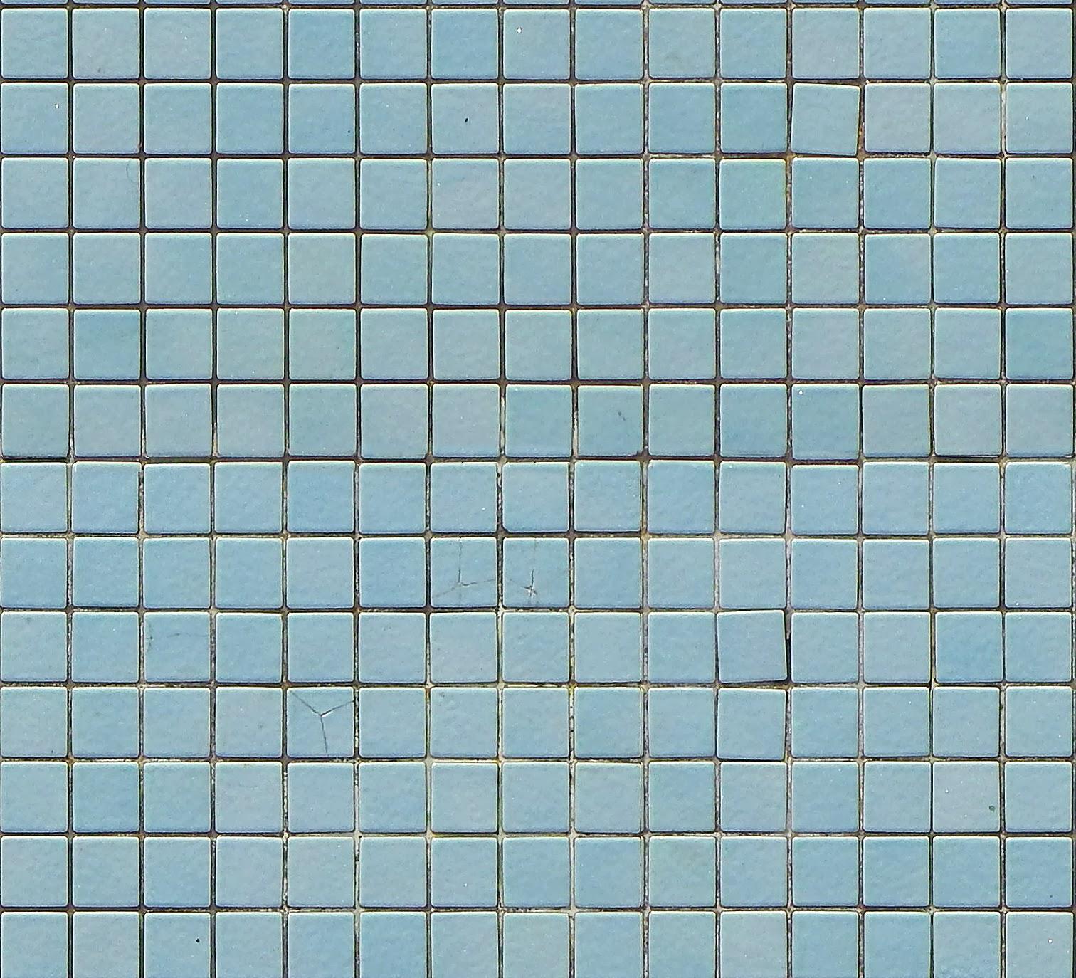 Tileable Blue Mosaic Pool Tiles Texture + (Maps
