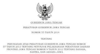 Peraturan Gubernur Jawa Tengah No 55 Tahun 2014
