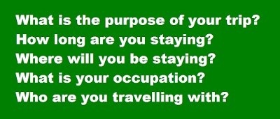 Common questions asked by immigration officer
