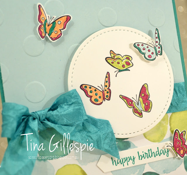 scissorspapercard, Stampin' Up!, Sharing Sweet Thoughts, Happy Birthday Gorgeous, Stitched Shapes Framelits, Polka Dot Basics TIEF, Naturally Eclectic DSP