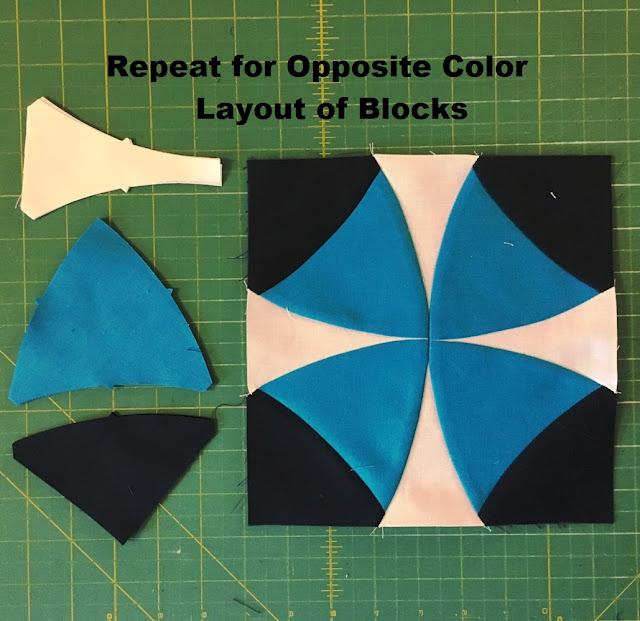 opposite quilt block assembly