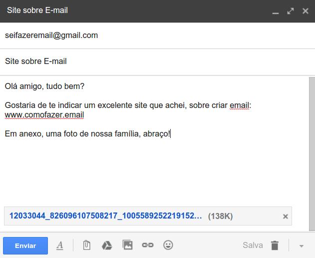 como fazer um e mail gr tis como enviar um e mail no gmail passo a passo para mandar um email. Black Bedroom Furniture Sets. Home Design Ideas