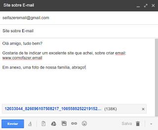 Como anexar imagem e enviar pelo email via GMAIL